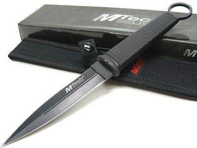 MTECH Black Straight Fixed Blade THROWING Dagger Knife + Sheath New! MT-20-02