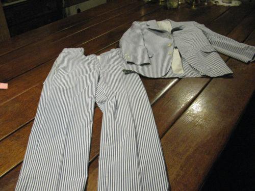 Vintage Seersucker Suit Ebay