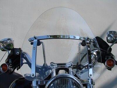 Large Clear Motorcycle Windshield for Harley Suzuki Kawasaki Yamaha Honda 19'' ()