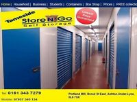 Storage units to let for household domestic goods Ashton under Lyne Hyde Denton droyslden Tameside