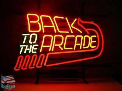 """Back to the Arcade Beer Pub Bar Neon Sign 20""""x16"""" From USA"""