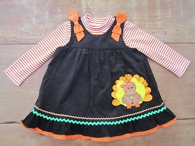 NWT Rare Editions baby toddler girl 24 months Thanksgiving dress outfit CUTE! - Cute Baby Girl Thanksgiving Outfit