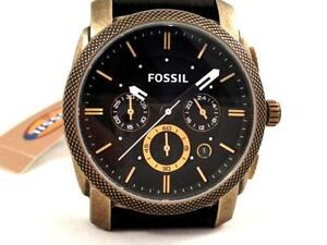 mens fossil watch leather men s fossil black leather watch
