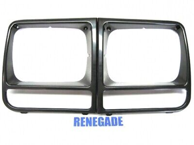Jeep Cherokee XJ Blinkerblenden Blende Set rechts und links Chrom 84-90