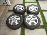 "Set of 4 18"" Bridgestone tires"