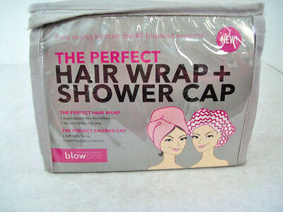 BlowPro® Hair Wrap + Shower Cap Set NEW