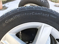 Alloy Winter Wheels and Tyres Audi A3 or VW Golf