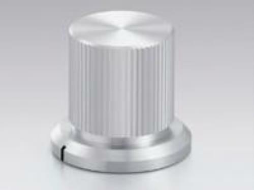 Sato Parts # K-12, 6.0mm Shaft, Splined Aluminum Knob with Indicator Line