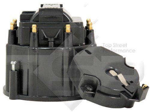 Small-Big-Block-Chevy-GM-HEI-Distributor-Black-Cap-Rotor-kit-327-305-350-454