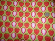 Stoff Erdbeeren