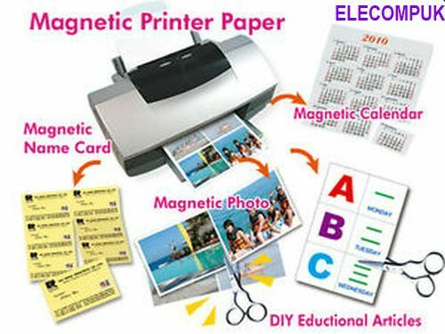 """4"""" X 6""""  MAGNETIC GLOSSY PHOTO SHEETS FOR INKJET PRINTER. 4 SHEETS PER PACK.  4"""