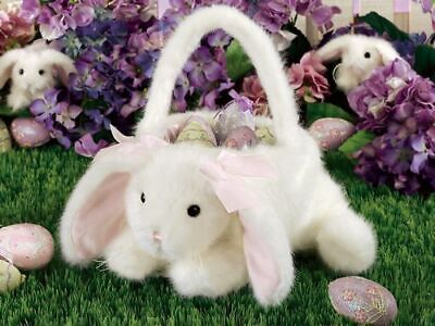 Easter Egg Basket Cute & Soft by Bearington - Long Lasting w