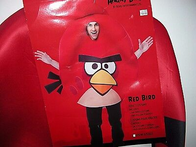 NWT NEW Halloween Costume Adult Angry Red Bird One Size](Angry Bird Adult Costume)