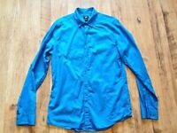 MENS H & M Deep Blue Long Sleeve Shirt Size M Uses but in Excellent Condition