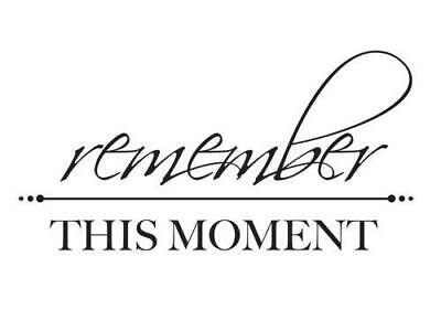 Remember This Moment Mini Clear Stamp By Kaisercraft Free Delivery