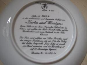 """Zartes and Winziges"" Collector Plate Kingston Kingston Area image 2"