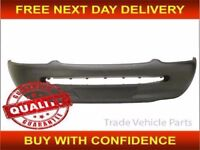 Ford Escort 3 Door Hatchback 1995-2001 Mk6 Front Bumper No Lamp Holes - Black NEW FREE DELIVERY