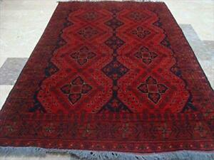 Afghan Khal Muhamadi Exclusive Designed Rectangle Wool Area Rug Hand Knotted Carpet 6' x 4'