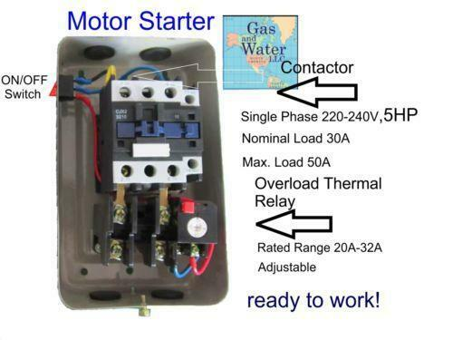 hp magnetic starter