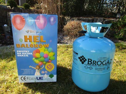 Helium Ballongas Einweg für ca.50 Luftballons 0,42 qm³ Folienballons Top 24061