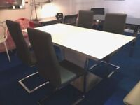 Gorgeous Frost White Essence Extending Dining Table. rrp £899