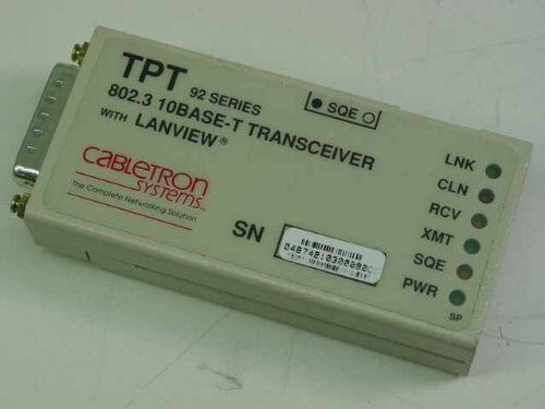 Cabletron TPT 92 Series802.3 10Base-T Transceiver   Lanview