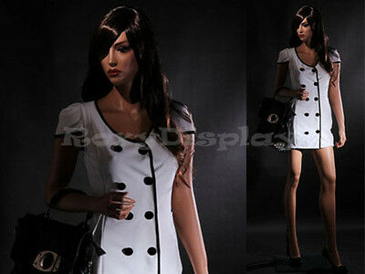Female Fiberglass Mannequin Beautiful Face With Elegant Pose Style Mz-lisa7