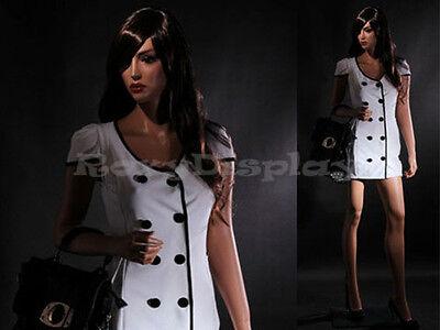 Female Fiberglass Mannequin Beautiful Face With Elegant Pose Style Mz-lisa7