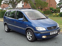 2003 DIESEL 7 SEATER VAUXHALL ZAFIRA - SPARES OR REPAIR £295