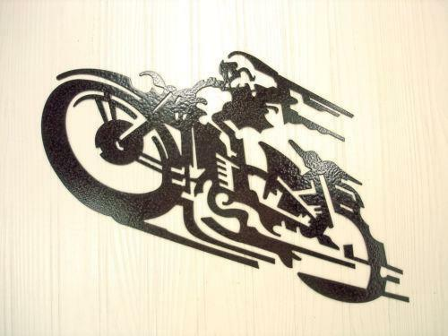 metal motorcycle wall art ebay. Black Bedroom Furniture Sets. Home Design Ideas