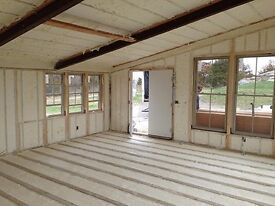 SOUND PROOFING SPRAY FOAM AND PREMIUM INSULATION. KEEP UNWANTED COLD AIR AND NOISE OUT!