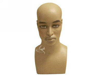 Male Mannequin Head Bust Wig Hat Jewelry Display #MD-MB2