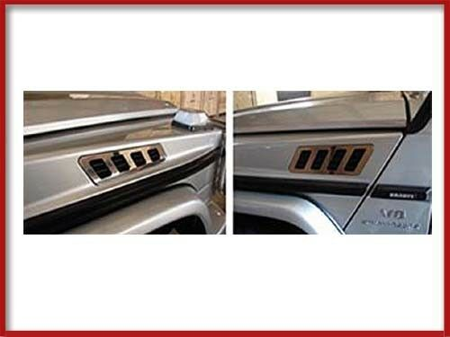 G-CLASS CHROME SIDE AIR DAM VENT COVER W463 G-WAGON TRIM PART ACCESSORY G550 G63