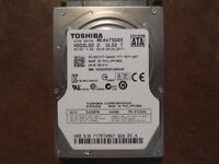"TOSHIBA MK6475GSX 640GB 5400 RPM 2.5"" SATA 8 MB HDD Hard Disk Drives laptop Chingford"