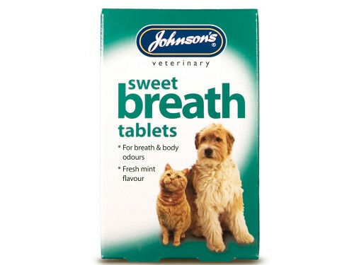 Johnsons Sweet Breath Dog & Cat Fresh Breath Tablets 30 Pack