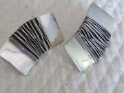 Modernist Sterling Earrings