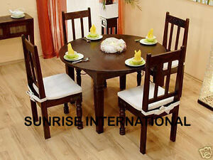 solid wooden dining set 1 round table 4 chairs dining table sets