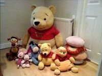 HUGE Winnie The Pooh-bundle-soft toys and pillows.