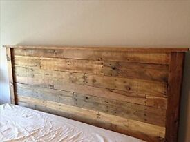 KINGSIZE rustic wooden bed head board headboard made from reclaimed wood