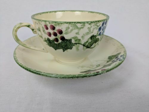 POOLE POTTERY WINTER VINE BREAKFAST CUP & SAUCER ~ 11 Available