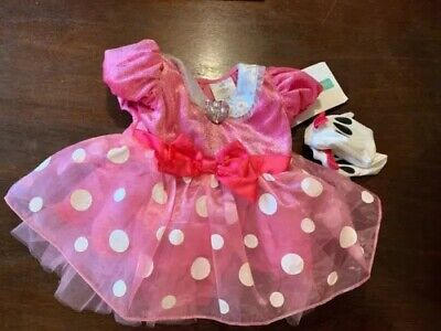 Disney Store Mini Mouse Costume Dress & Gloves Girls Sz. 6-12  Months NWTS! - Girls Mini Mouse Costume