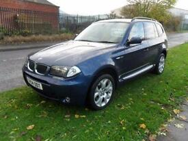 BMW X3 SPORT AUTO PANO ROOF SAT NAV LEATHER 19 INCH WHEELS 78000 MILES