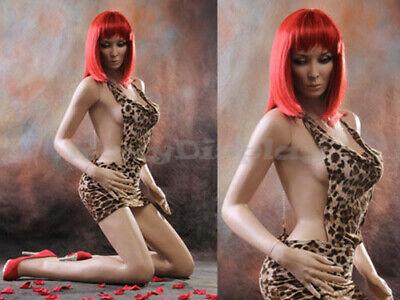 Sexy Big Bust Female Fiberglass Mannequin Dress Form Display Mz-vis3