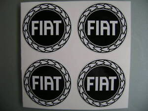 4x 60 mm fits fiat wheel STICKERS center badge centre trim cap hub alloy bk