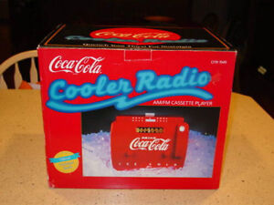 Vintage OTR 1949 Old-Tyme Red Coke Cola Cooler AM/FM Cassette