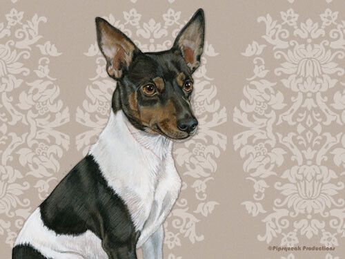 Rat Terrier Large Cutting Board