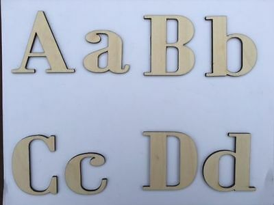 - Laser Cut Wooden Letters, Bodini MT Font, Crafting Supplies, Size &Thickness