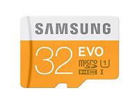 Samsung 32 GB Evo MicroSDHC UHS-I Grade 1 Class 10 Memory Card