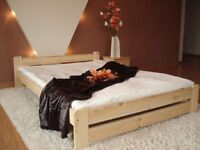 40 x Double or king size wood frame bed 4ft6in/5ft. colour: PINE