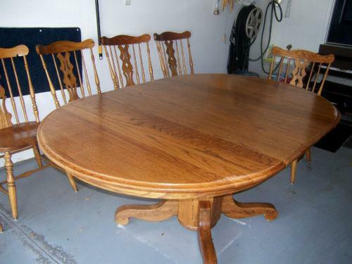 Round Dining Table 6 Chairs EBay
